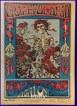 Grateful Dead SKELETON & ROSES FD-26 Avalon Ballroom Poster Sept. 16-17, 1966