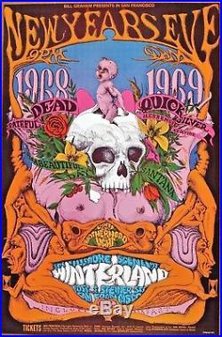 Grateful Dead Santana Its a Beautiful Day Quicksilver Concert Poster 1968