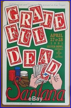 Grateful Dead & Santana Las Vegas Orig. 1991 Rare Double-Sided Poster BGP41