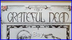 Grateful Dead Signed Poster By Jack Rajca. Famous Poster Hand Signed Rarest Ever