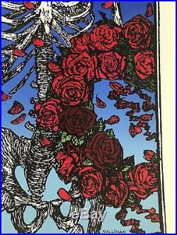 Grateful Dead Skeleton Skull & Roses Poster, Signed Stanley Mouse EXCELLENT