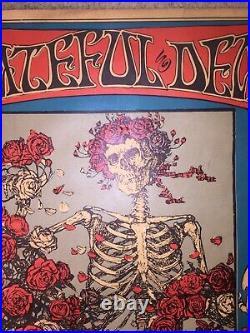 Grateful Dead Skull And Roses Poster 3rd Pressing Avalon Ballroom 1966