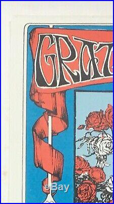 Grateful Dead Skull And Roses With Oxford Circle Fd-26 Original Concert Poster