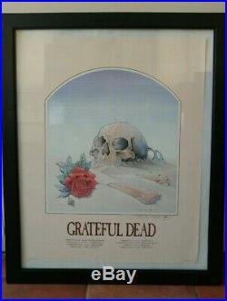 Grateful Dead Skull In Sand 1981 Original Poster Framed Stanley Mouse Signed