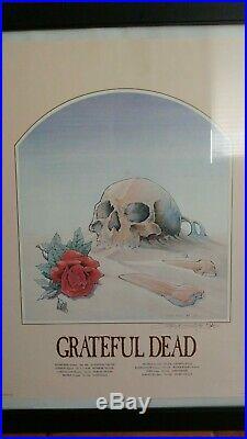 Grateful Dead Skull In Sand 1981 Original Poster Stanley Mouse Signed