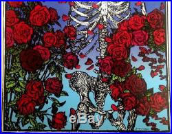 Grateful Dead Skull & Roses Art Print Signed by Stanley Mouse with Caricature NM-M