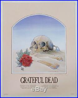 Grateful Dead Skull in the Sand 1981 European Tour Signed by Mouse