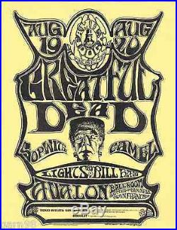 Grateful Dead Sopwith Camel Fillmore Era Family Dog Handbill Flyer 1966 Mouse