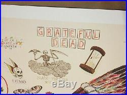 Grateful Dead Spring 1990 Wes Lang Sketch Print Rare Mint LE 250