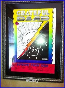Grateful Dead Spring Tour 1988 Poster SIGNED BY ALL BAND MEMBERS PETER MAX