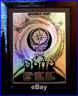 Grateful Dead Spring Tour 2009 RARE Glitter Foil Variant by EMEK. #5/14 MINT