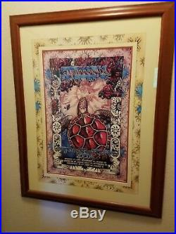 Grateful Dead Summer 1995 Framed Tour Poster with Hand Drawn Mat & Numbered