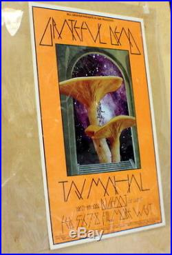 Grateful Dead Taj Mahal Fillmore West Original Concert Poster Bill Graham 1970