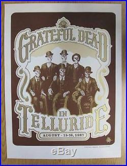 Grateful Dead Telluride 1987 Concert Poster Silkscreen 2007 Colorado Johannsen