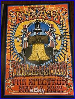 Grateful Dead The Dead 2009 Spectrum Philadelphia Poster Hand Signed Biffle