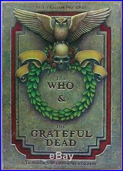 Grateful Dead The Who Vintage Phillip Garriss Oakland Stadium Poster