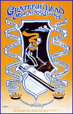 Grateful Dead Trip and Ski Poster RARE Original Kings Beach Bowl AOR 3.29 Fried