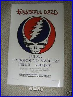Grateful Dead Tulsa 1979 Poster. Very Rare