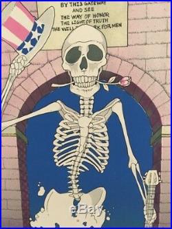 Grateful Dead UVA 1982 XL Silkscreen Concert Poster by Dwyer
