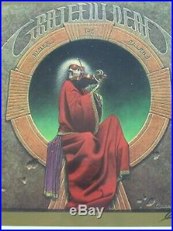 Grateful Dead Vintage Blues for Allah Signed and Numbered Poster from the 70's