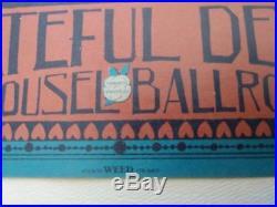 Grateful Dead Vintage Concert Poster Carousel Ballroom Valentine's Day Concert