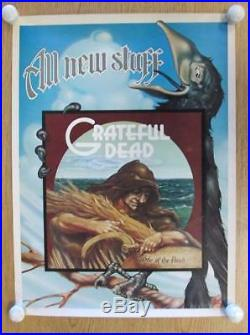 Grateful Dead Wake Of The Flood 1973 Promo Poster Rick Griffin Original Rare