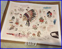 Grateful Dead Wes Lang Warrior Skull Limited Edition Print Spring 1990 Box Set