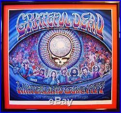 Grateful Dead Winterland 1977 Print by EMEK. Large Version RARE #43/50 MINT