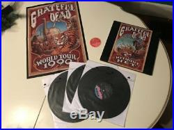 Grateful Dead Without A Net Vinyl with RARE POSTER