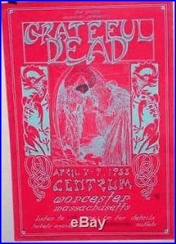 Grateful Dead Worcester 1988 Original Concert Poster