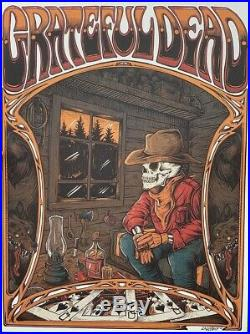 Grateful Dead Workingman's Dead 50th Anniversary Dire Wolf Poster RARE SIGNED