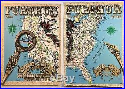 Grateful Dead and Company Further set of 2 posters US Map June 3-4 2011 DuBois