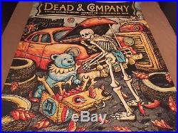Grateful Dead and & Company Gig Poster 11/24 Detroit, MI Fall Tour 2017 Print