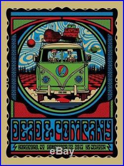 Grateful Dead and & Company Gig Poster VW Van Hartford CT Fall Tour 2017 Print