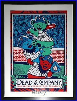 Grateful Dead and Company Wrigley Field Chicago 18x24 Poster Framed 6/30/17 2017
