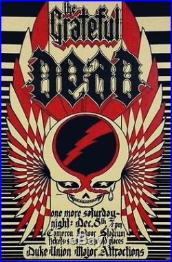 Grateful Dead at Duke Univ 1973 Concert Tour Poster Hand Numbered 2nd Printing