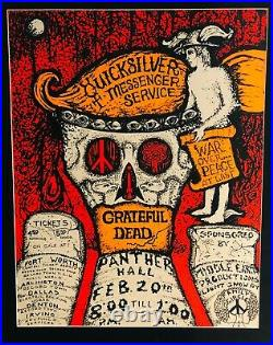 Grateful Dead at Panther Hall, Fort Worth, Texas Concert Poster from Feb. 1970