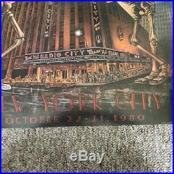 Grateful Dead-authentic original poster 1980-Radio City Music Hall-New York City