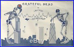Grateful Dead in Chicago, Concert Poster from 1987, UIC Pavillion