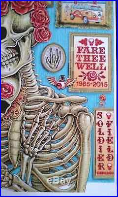 Grateful Dead music-Fare Thee Well Chicago-Soldier Field Poster/print