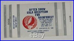 Grateful Dead signed art original Rainforest poster Signed at Gala