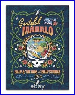 Grateful Mahalo Billy And The Kids Billy Strings Poster Hawaii