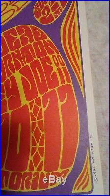 Grateful dead 12-9/10-1966 poster fillmore west mint cond BGP 42-2