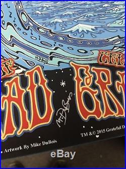 Grateful dead Fare Thee Well Silkscreen Poster DuBois 2015 UNCUT triptych