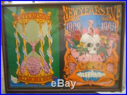 Grateful dead new years eve poster 1967/68
