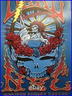 Grateful dead poster Madison Square Garden New York City Richard Biffle RARE
