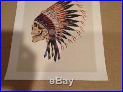 Grateful dead poster Spring 1990 Wes Lang Art Original Rare Limited Edition