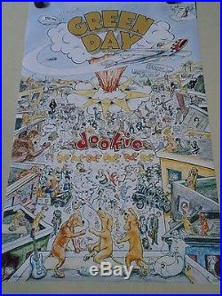 Green Day / Original Vintage Poster / Dookie #7192 / Exc. +new cond. 22x34