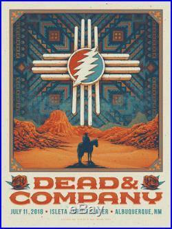 Half Hazard Press Dead and Company Isleta NM Print Poster Grateful Dead Helton