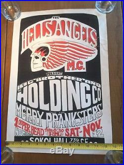Hells Angels Big Brother Merry Pranksters Gut Poster